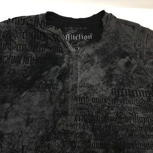 Affliction distressed graphic shirt size medium